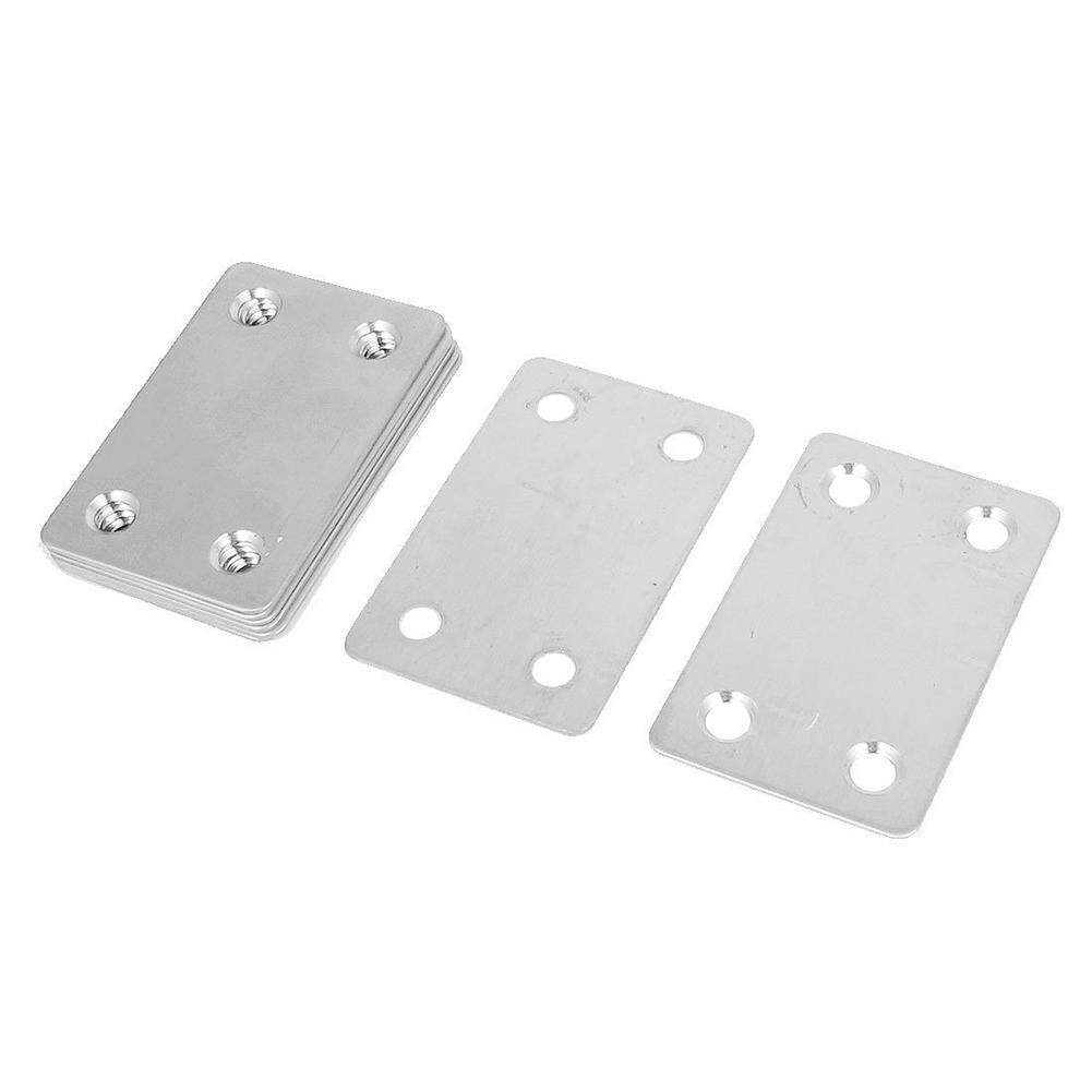 60mm x 38mm Flat Repair Mending Plate Joining Bracket Support 8pcs