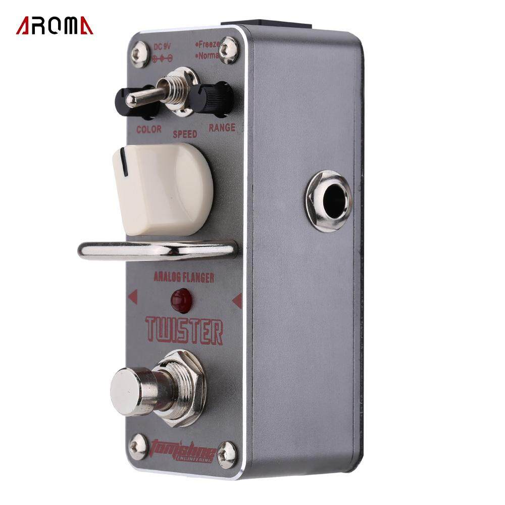 AROMA ATR-3 Twister Analog Flanger Electric Guitar Effect Pedal Mini Single Effect with True Bypass