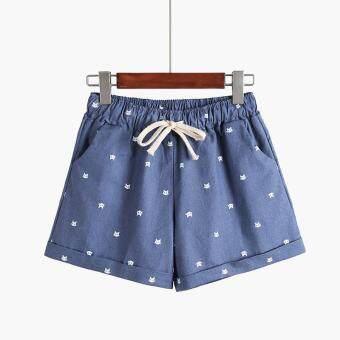 b4eba0dfd การส่งเสริม DANJEANER New Cotton Women's Casual Shorts home-style cat's  head candy-colored Shorts ซื้อที่ไหน - มีเพียง ฿792.00