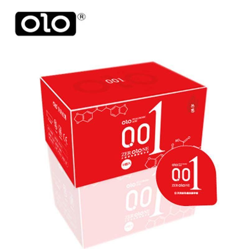 Olo ถุงยางอนามัยบาง0.01 Size 52 Mm. (10ชิ้น/1กล่อง) แดง 1กล่อง By Strong_mall.