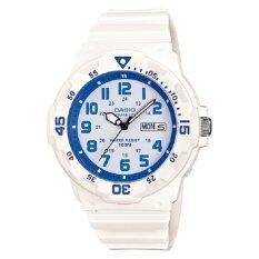 ราคา Casio Standard นาฬิกาข้อมือผู้ชาย สายเรซิ่น รุ่น Mrw 200Hc 7B2 สีขาว