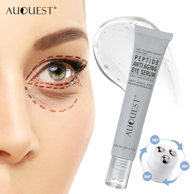 Auquest Peptides Ageless Eye Cream Hyaluronic Acid Serum Essence Gel For Firming Wrinkles Cream Whitening Puffy Eye Care 20g.