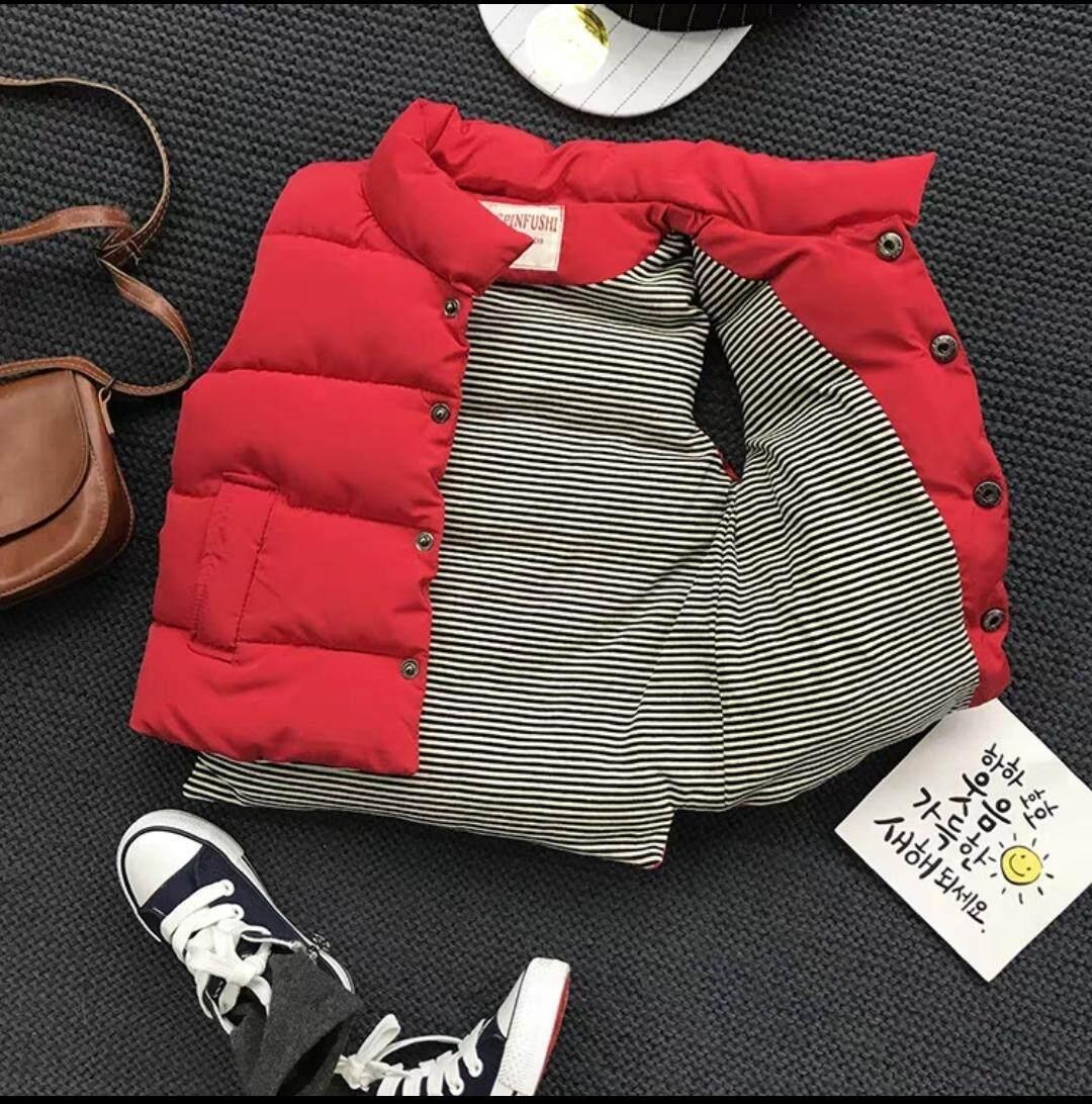Ckids_story เสื้อกั๊ก เสื้อกั๊กเด็ก มี 2 สี ดำ/แดง แฟชั่นเด็กเกาหลี แฟชั่นเด็ก ชุดเด็ก เสื้อผ้าเด็ก By Chomstudio.
