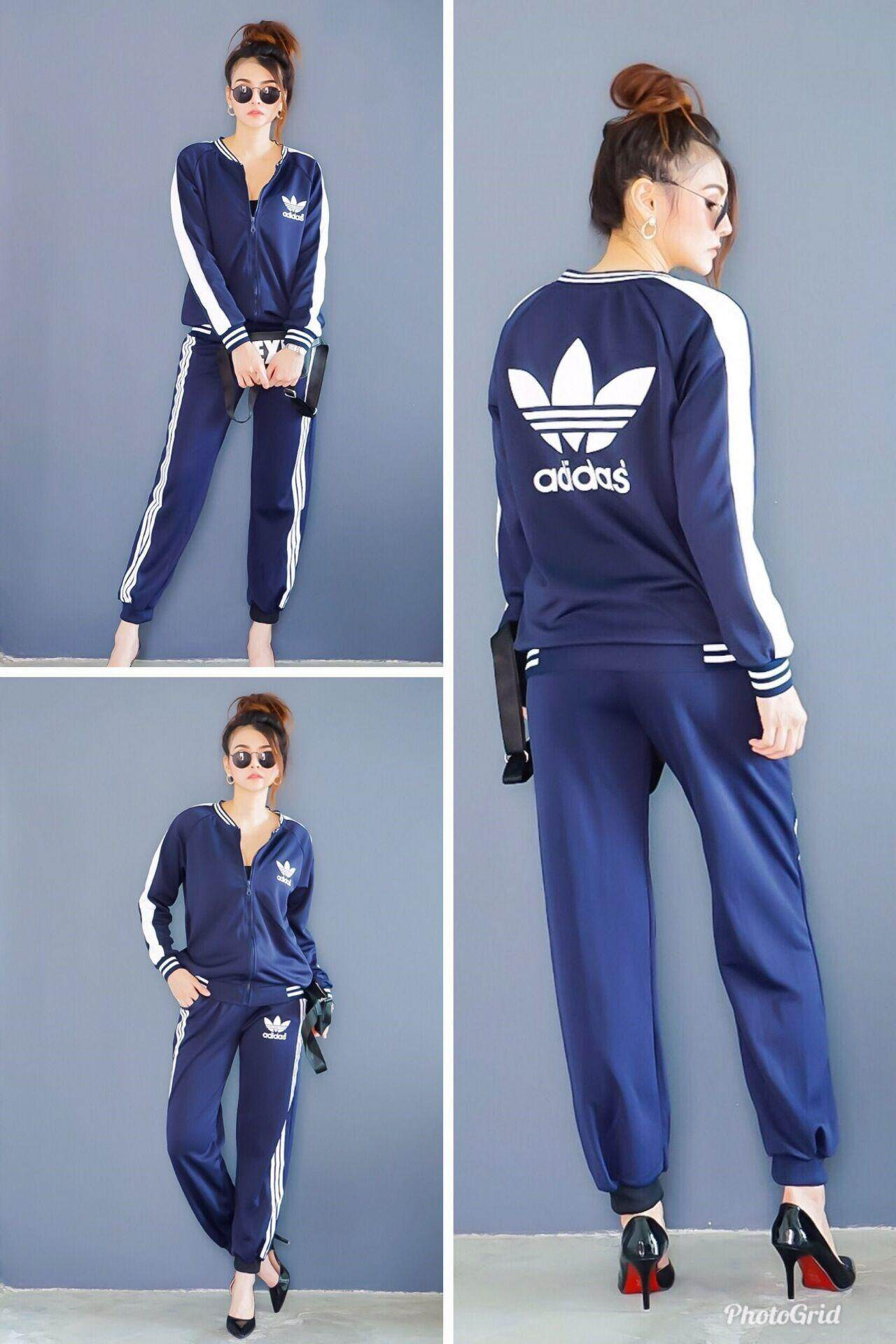 Adidas Women Fashion Casual Comfortable Sportswear One Set