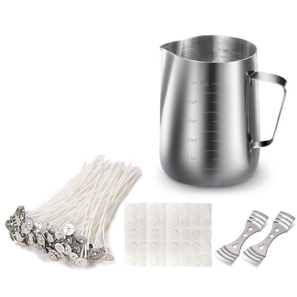Mua Candle Making Kit, DIY Candle Crafting Tool, 1 Candle Making Pouring Pot, 50 Candle Wicks, 50 Candle Wick Stickers and 2 3-Hole Candle Wick Holders