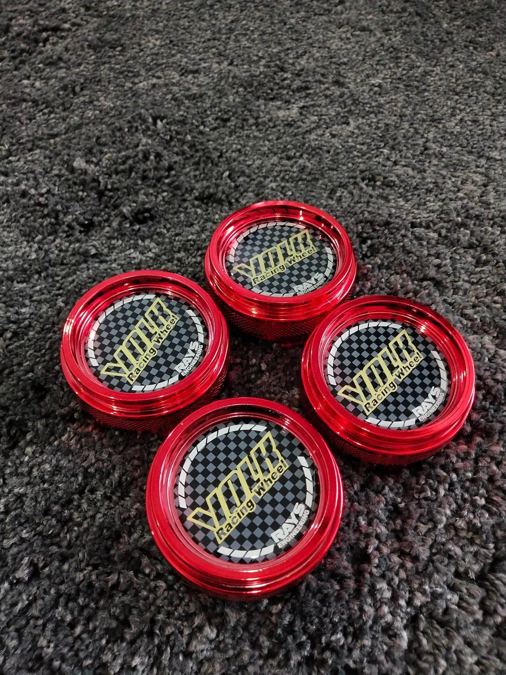 ฝาครอบดุมล้อvolk Racing มี6สี (สีแดง) ราคาต่อชุด(4ชิ้น) พร้อมส่ง By Infinity Car.