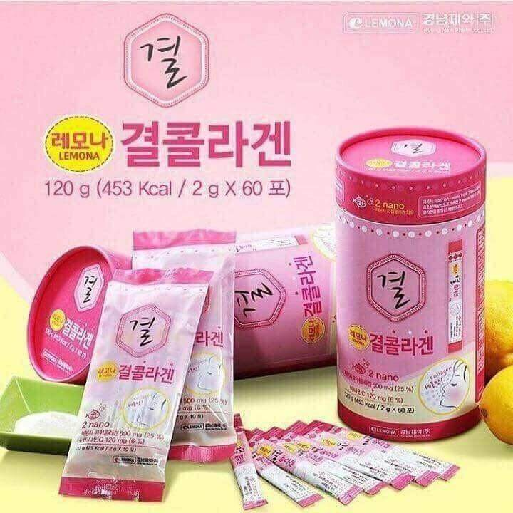 เลโมนา คอลลาเจนเกาหลี Lemona Gyeol Collagen 1 กล่อง*60ซอง คอลลาเจน+วิตามินซี ของแท้ พร้อมส่ง บำรุงร่างกาย บำรุงผิวพรรณขาง เปล่งปลั่่ง.