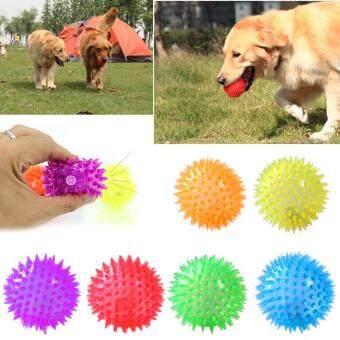การส่งเสริม Dog Puppy Cat Pet Led Squeaker Rubber Chew Bell Ball Playing Toy Colorful ซื้อที่ไหน - มีเพียง ฿61.00