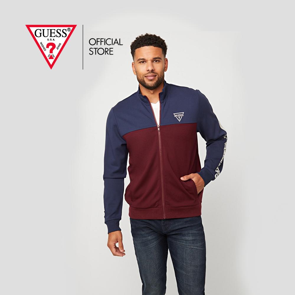 Guess แจ็คเก็ต Leon Color-Block Logo Jacket รุ่น X0bq04r8xf0 หลากสี เสื้อแจ็คเก็ต เสื้อผ้า เสื้อผ้าผู้ชาย.