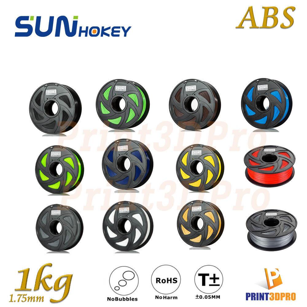 Sunhokey Filament Abs 1kg 1.75mm High Purity , High Precision , High Quality , High Toughness.