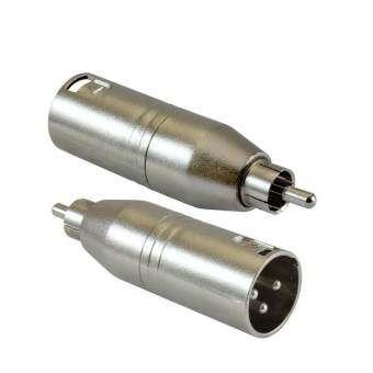 Nke Audio ตัวแปลงปลั๊กRCAเป็นปลั๊กแคนนอน  XLR male to RCA Male Adapter - Silver ( แพ็ค2ตัว)