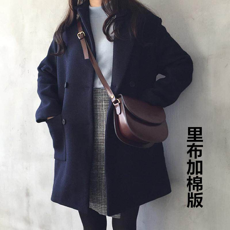 Korean Style Off Season 2019 New Style Students Hair Woolen Overcoat Thick Short-Height Coat Large Size Loose Mid-Length Female By Taobao Collection.