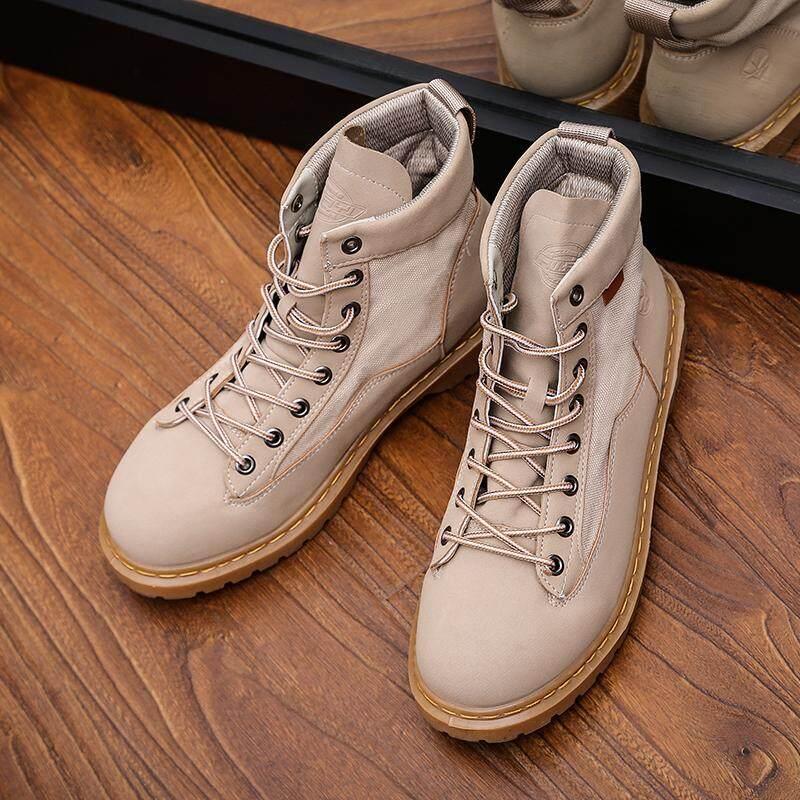 Yang ฤดูใบไม้ร่วงฤดูหนาวของผู้ชายรองเท้ากันน้ำรองเท้า Martin รองเท้าทำงานกลางแจ้ง By Yang Store International.