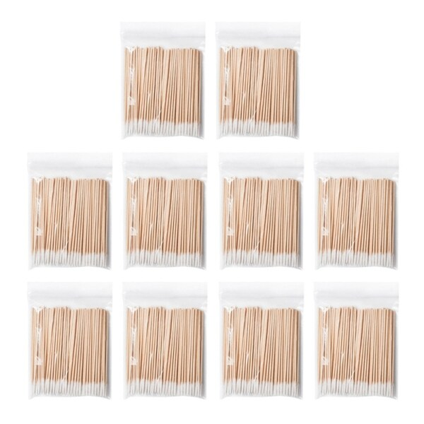 1000 Count Cotton Swabs Wood Sticks, Cotton Tipped Applicator, Tattoo Permanent Supplies, Cosmetic Applicator Sticks giá rẻ