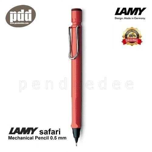 Lamy ดินสอกด ลามี่ ซาฟารี ด้ามดำ ขาว น้ำเงิน แดง เหลือง ชมพู เขียว ดำด้าน ไส้ดินสอ 0.5 มม - Lamy Safari Mechanical Pencil - Black, White, Blue, Red, Yellow, Pink, Green, Umbra Barrel (พร้อมกล่องและใบรับประกัน).