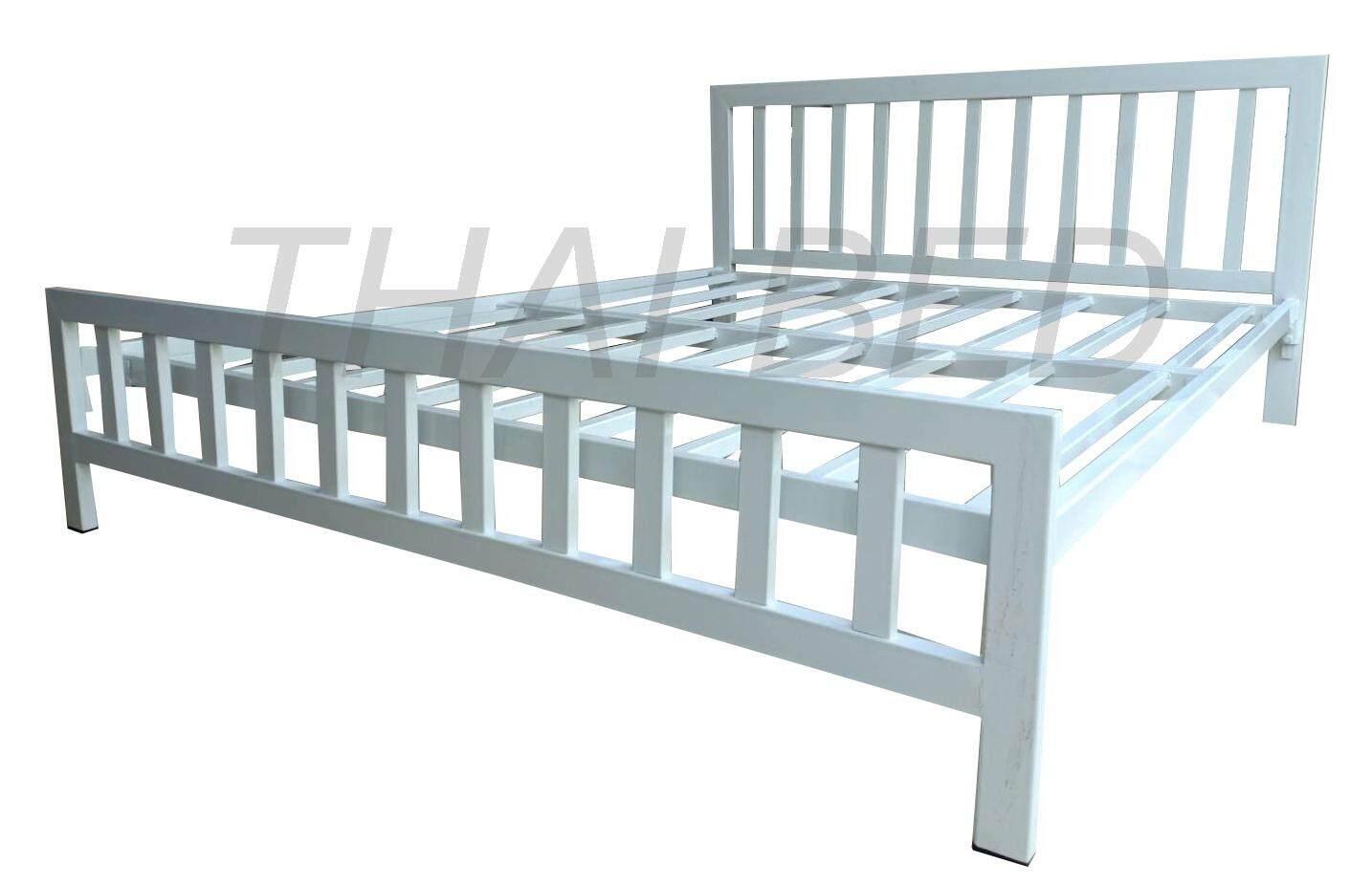 โครงเตียงเหล็ก 6ฟุต เตียงเหล็กไร้ขาคั้มกลาง Steel Bed Condo Bed เตียงเหล็กหนา เตียงเหล็กไม่มีเสียงดัง เตียงเหล็กสำหรับคอนโด.