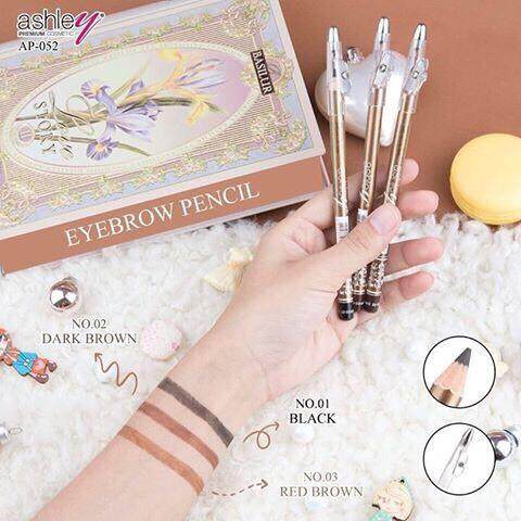 (แบ่งขาย *1แท่ง*) Ap-052 ดินสอเขียนคิ้วแบบ !!!(มีกบเหลา)!!! Ashley Premium Eyebrow Pencil Waterproof.