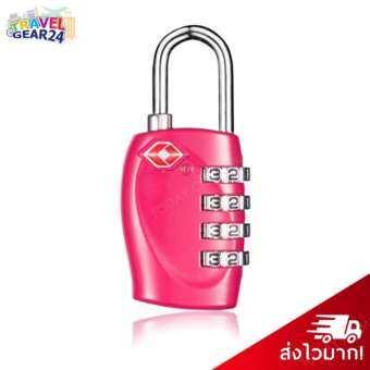 TravelGear24 กุญแจล็อคกระเป๋าเดินทาง TSA กุญแจล็อค 4 รหัส Travel Luggage Locks TSA (Pink/สีชมพู)-