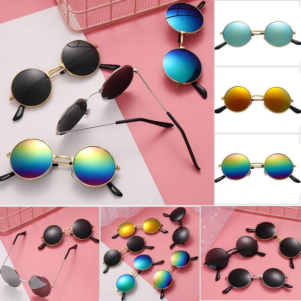 [wb] 1 ชิ้นชายและหญิงย้อนยุครอบดวงอาทิตย์แว่นตาแว่นตาแว่นกันแดดเด็ก.