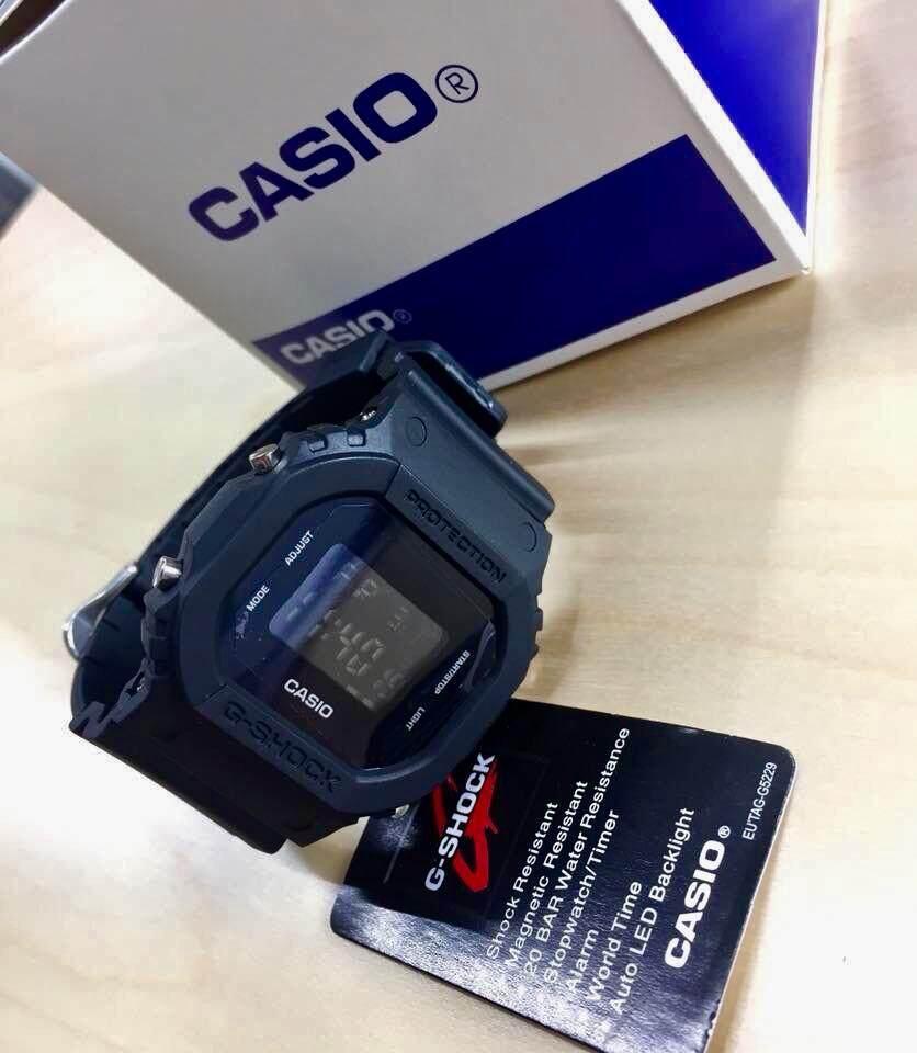 Casio สีดำ นาฬิกาข้อมือผู้ชาย ผู้หญิง นาฬิกาแฟชั่น By New Clock.