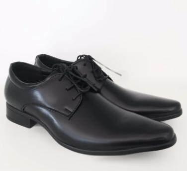 Ava รองเท้าหนังผู้ชาย รุ่น K002 - Black (สีดำ).