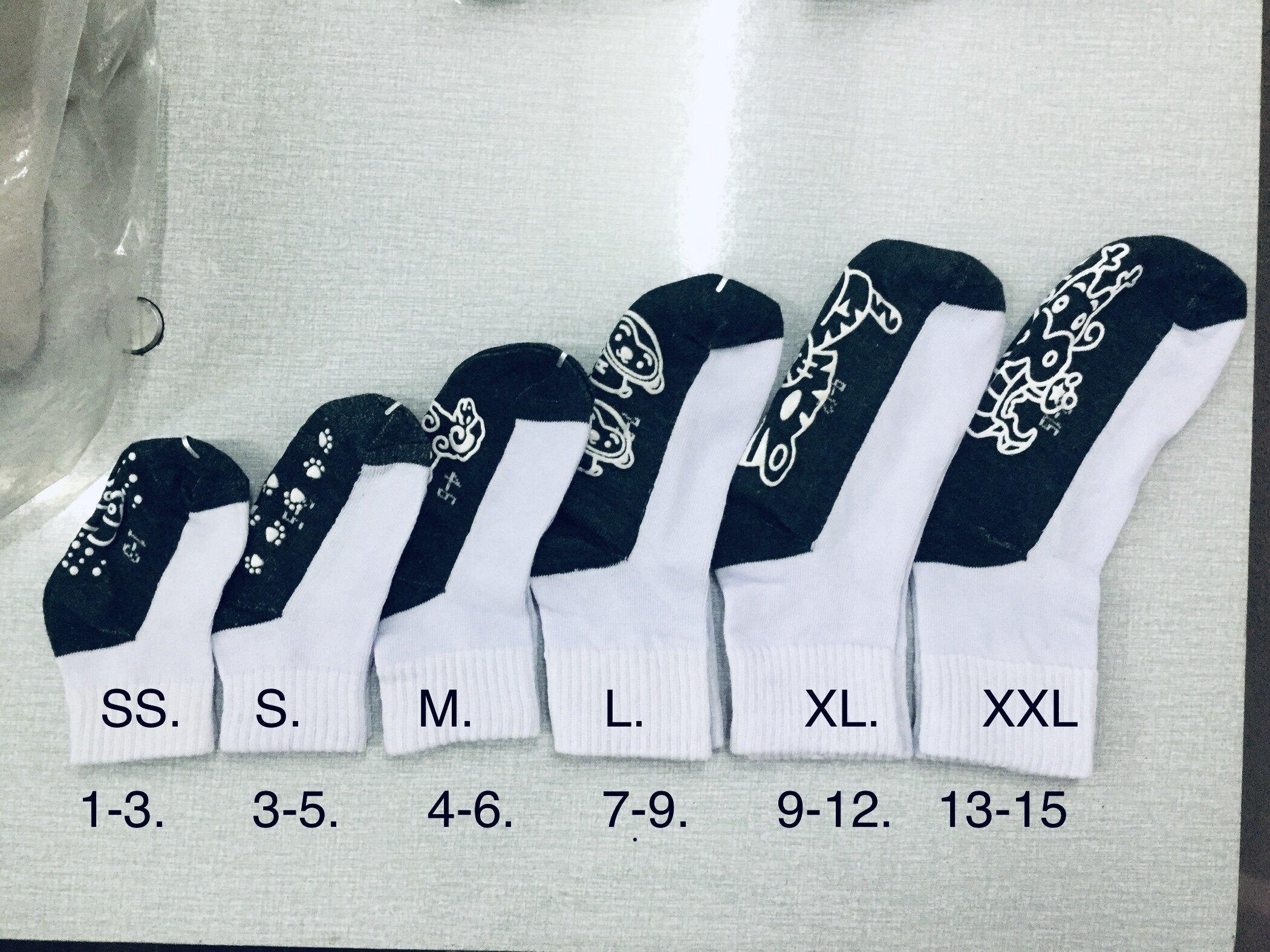 ถุงเท้านักเรียนกันลื่น ถุงเท้านักเรียนสีขาว ราคาถูก คุณภาพดี ไม่ย้วย ขายยกโหล(12คู่).