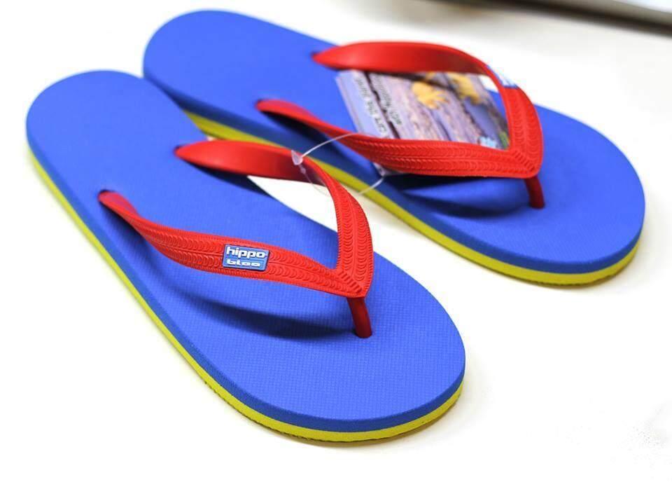 3สี น้ำเงินแดงเหลือง Bluered yellow Hippo shoe รองเท้าแตะฮิปโป No.37-38-39-40 41-42 45-46