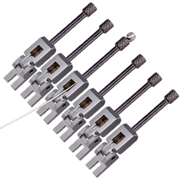 Double Locking System Locked Saddles for Electric Guitar Tremolo Bridges Set of 6