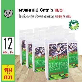Royal Pets Catnip หญ้าแมว ตำแยแมว กัญชาแมว ใช้โรยบนของเล่นหรืออาหาร สำหรับแมว (5 กรัม/ ชิ้น) x 12 ชิ้น-