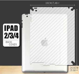 ฟิล์มกันรอยรอยหลังเครื่องและขอบข้าง ลายเคฟล่า ไอแพด 2 / 3 / 4   Anti-fingerprint Clear Fiber Back Screen Protector Film For Apple iPad 2 / 3 / 4 (9.7