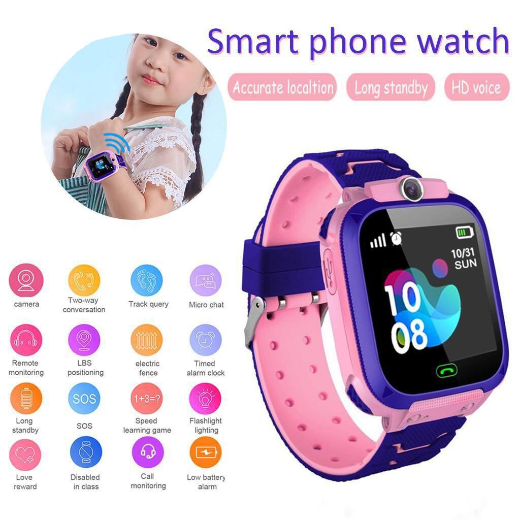 Like-Shop Smart Watch Q12 สมาร์ทวอท์ช นาฬิกาโทรศัพท์ อัจฉริยะสำหรับเด็ก นาฬิกาออกกำลัง สายรัดข้อมือ สมาทวอช ติดตามตำแหน่ง โทร แชท กันน้ำ ส่งไว  เมนูภาษาไทย (ส่งด่วน1-2 วัน ได้รับ).