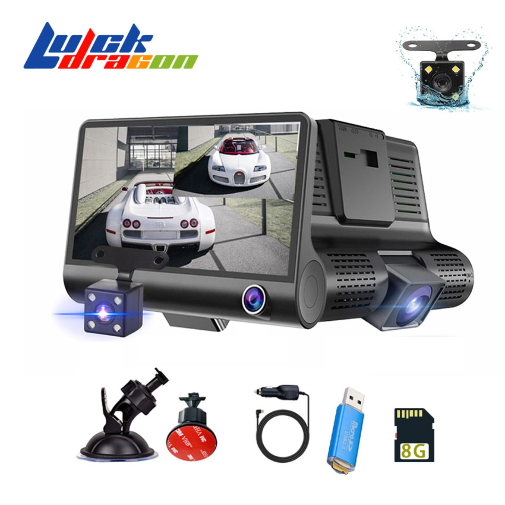 กล้องเลนส์ 4.0 นิ้วกล้อง Dash