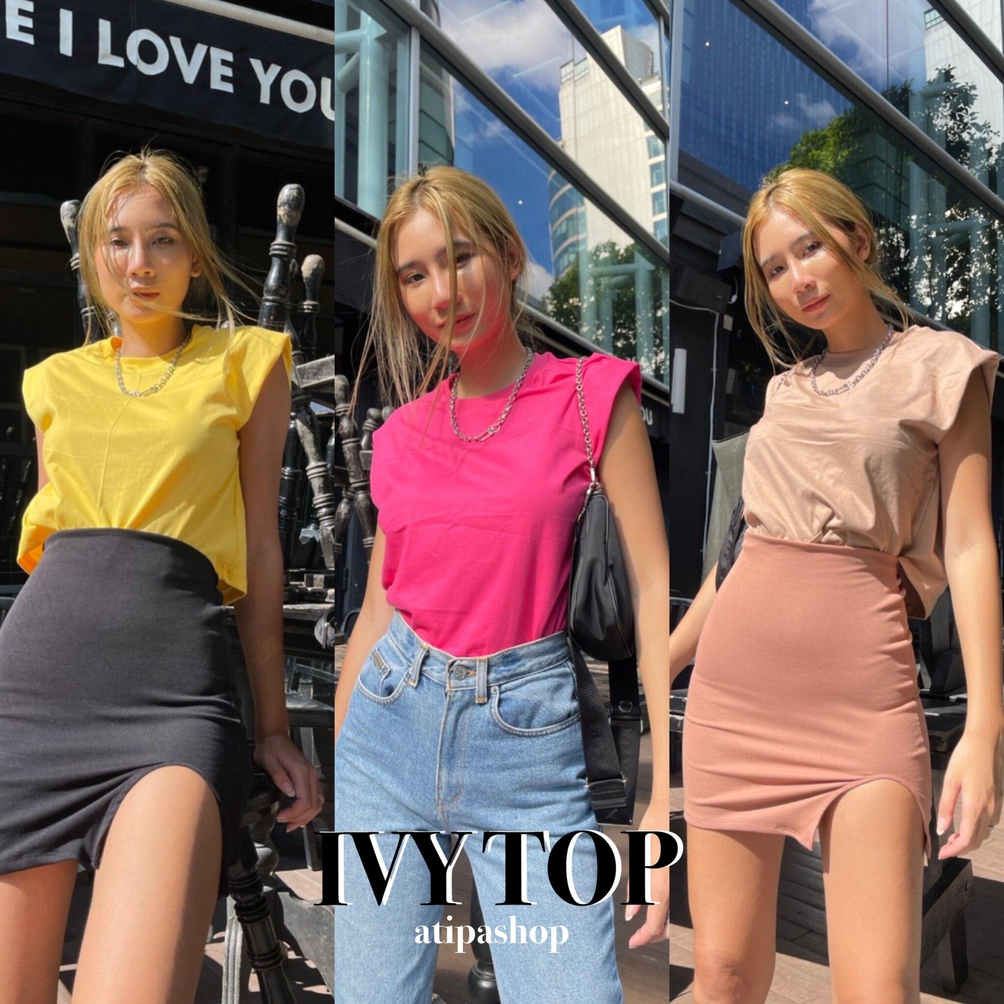 Atipashop - Ivy Top เสื้อแขนกุด มาใหม่ ทรงสวย สีให้เลือกเยอะ.