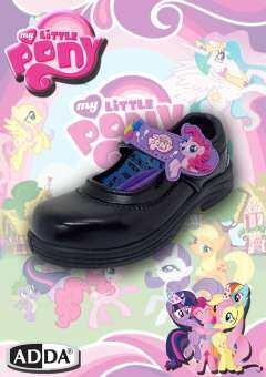 ADDA NEW PONY รองเท้านักเรียน เด็กผู้หญิง รองเท้าหนังดำ รุ่น 41C11-C1