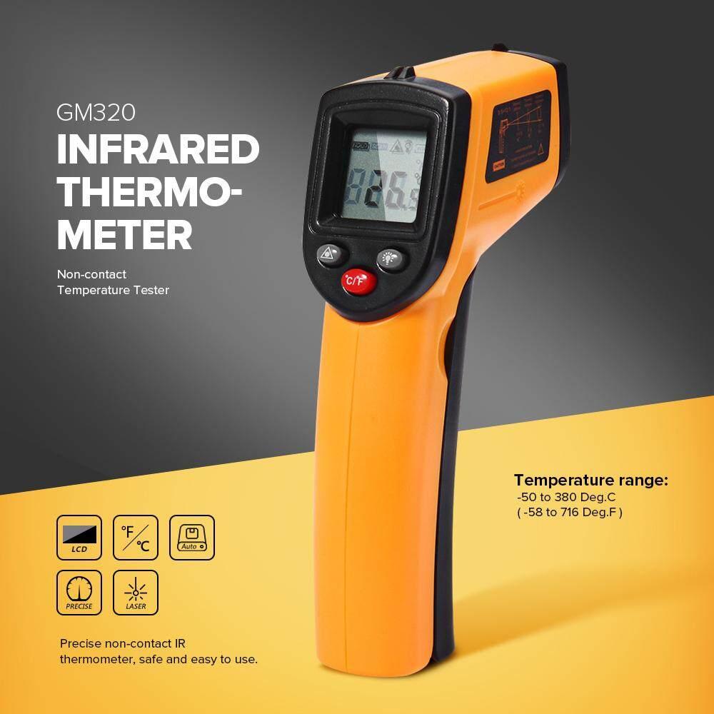 Aliz Selection Gm320 เครื่องวัดอุณหภูมิ แบบอินฟาเรด แสดงผลแบบดิจิตอล -50 To 380 C 1 ชิ้น มืออาชีพ Infrared Thermometer Gm320 Temperature Meter Gun Point -50~380 By Aliz Selection.