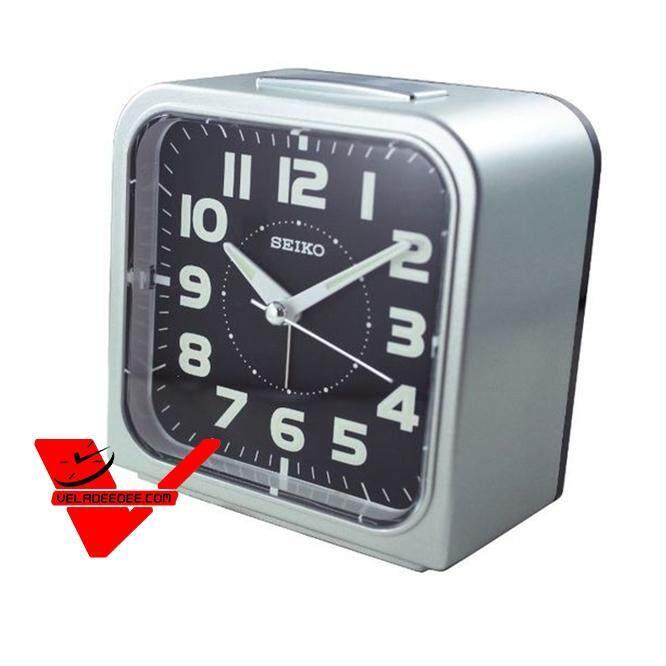 Veladeedee.com Seiko นาฬิกาตั้งปลุก นาฬิกาปลุก Bell Alarm มีพรายน้ำ รุ่น Qhk025k สีดำ, Qhk025j สีดำหน้าปัดขาว, Qhk025g (gold-Black), Qhk025r สีแดง,qhk025m สีเขียว,qhk025s สีเงิน.