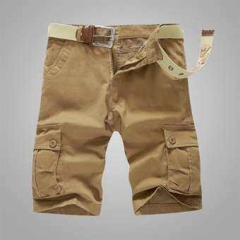 สำหรับฤดูร้อนกางเกง 7 ส่วนกางเกงสามส่วนผู้ชายลำลองกางเกงทำงาน 5 5 ส่วนกางเกงสั้นไซส์พิเศษไซส์ใหญ่พิเศษกางเกงขี่ม้ากระเป๋าเสื้อหลายช่อง 7 คะแนนกางเกงชายทะเล