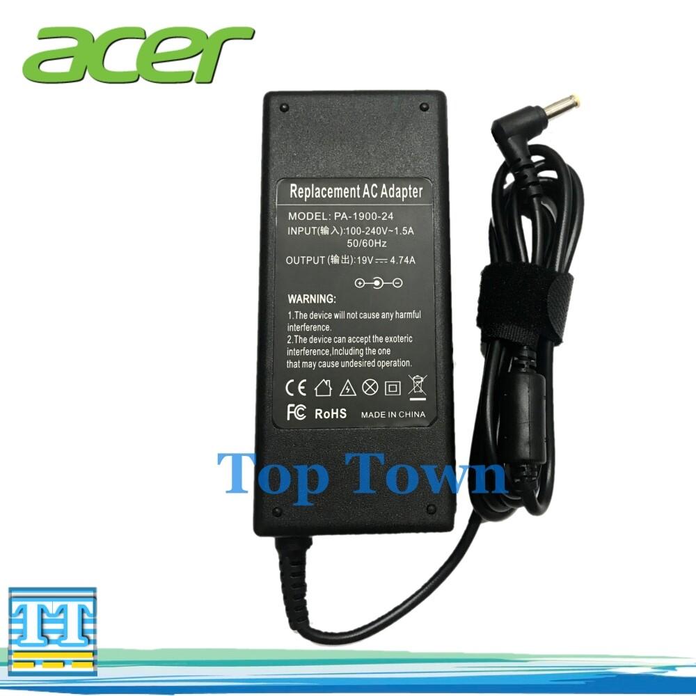 Acer Adapter Notebook Acer 19v 4.74a 90w (ขนาดหัว 5.5*1.7mm หัวเหลือง) อะแดปเตอร์โน๊ตบุ๊ค สายชาร์จโน๊ตบุ๊ค อแดปเตอร์ อะแดปเตอร์ สายชาร์จ สายชาร์ต สายชาร์ท Power.