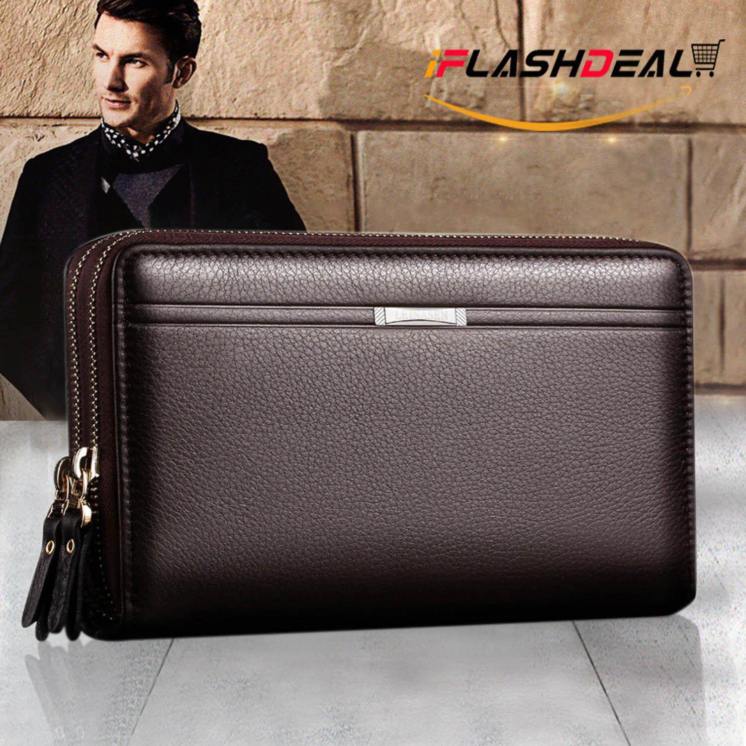 e584b6ca1f iFlashDeal Men Fashion Wallet PU Leather Mens Hand Bag Business Long Clutch Purse  Handbag for Phone