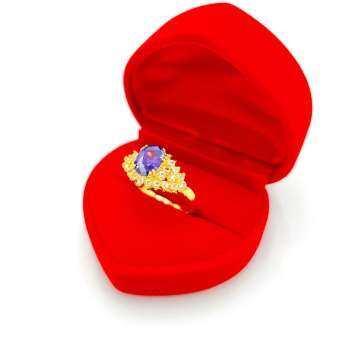 เเหวนทอง ประดับพลอยล้อมเพชร18K ขนาดพลอย 8x6MM พิงค์ บุษราคัม ไพลิน ทับทิม เเหวนทองชุบไมครอน เเหวนหมั้น เเหวนเเต่งงาน เเถมฟรีกล่องกำมะหยี่ สินค้าขายดีพร้อมส่ง