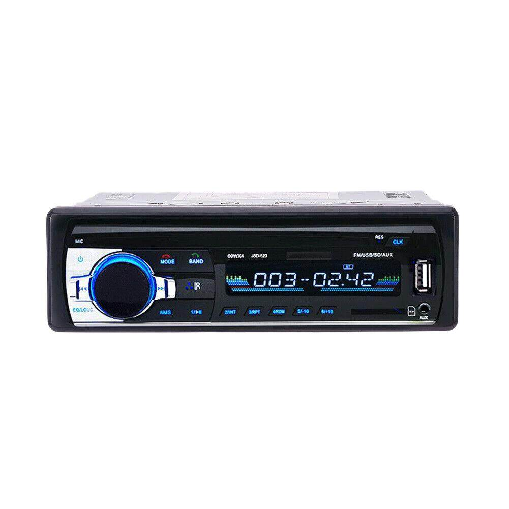 12V Car Stereo Fm Radio Mp3 Player Audio Support Bluetooth Phone With Usb / Sd Mmc Port Car Electronics Built-In 1 Din