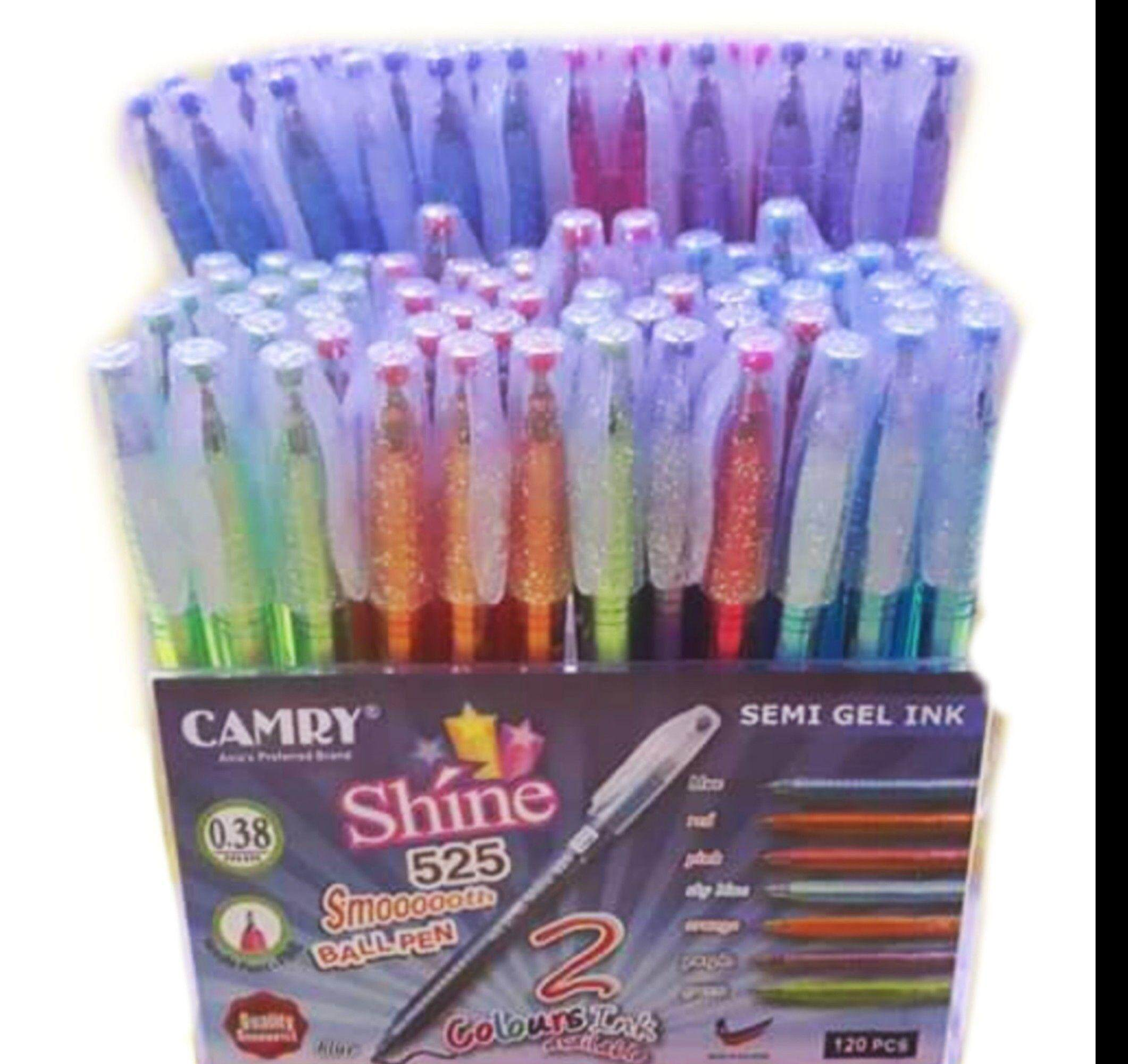 Camryปากกาลูกลื่นแคมรี่ ปากกาแคมรี่ Shine 525 สีน้ำเงิน สีแดง.
