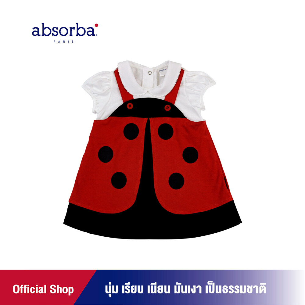 แนะนำ absorba (แอ๊บซอร์บา) ชุดเดรสเด็กหญิงเล็ก คอลเลคชั่น JARDIN สำหรับเด็กอายุ 6 เดือน - 2 ปี - R1I8016FA ชุดเด็กผู้หญิง