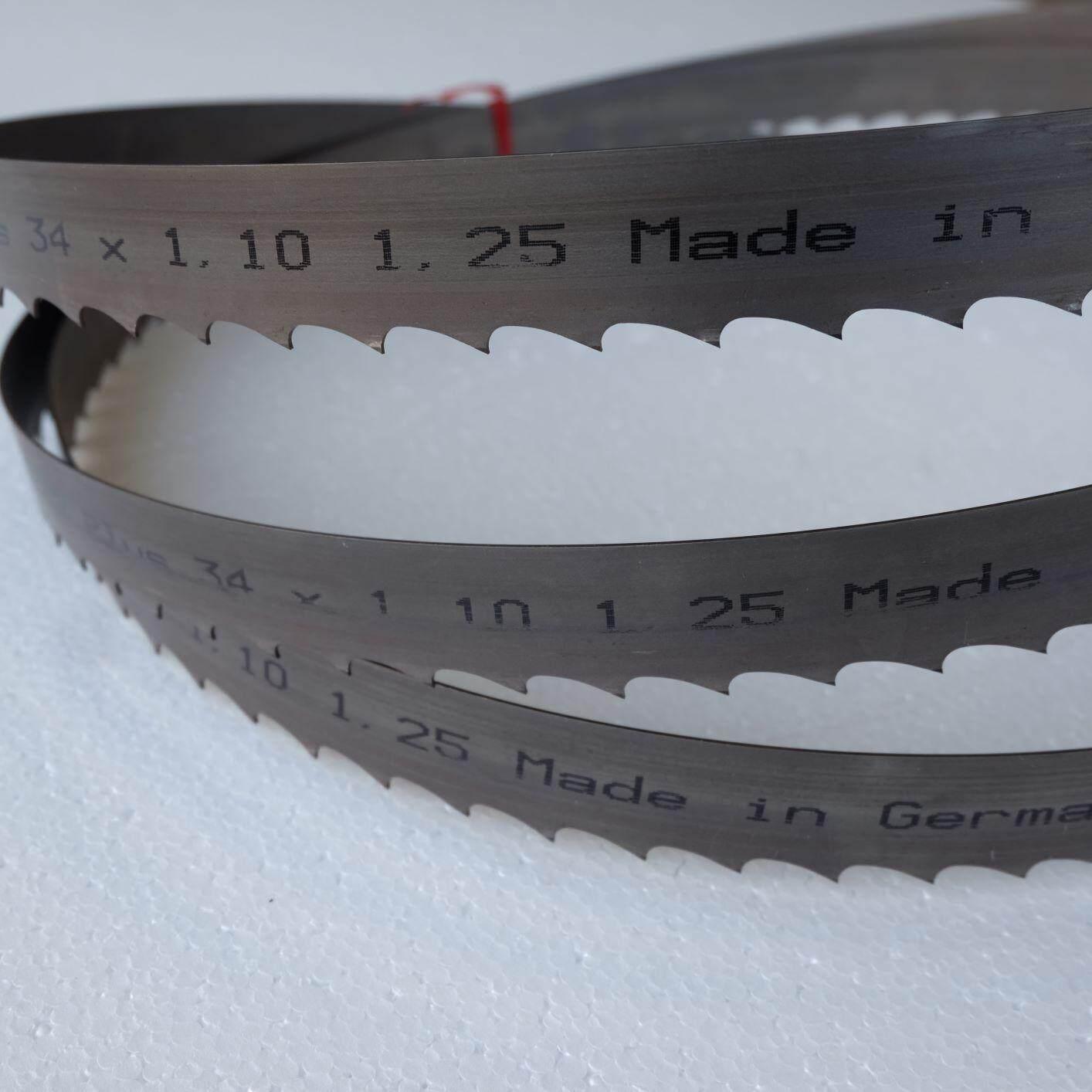 ใบเลื่อยสายพานสำหรับตัดไม้ 3300 x 34 x1.25 Hi-Speed Bimetal M42