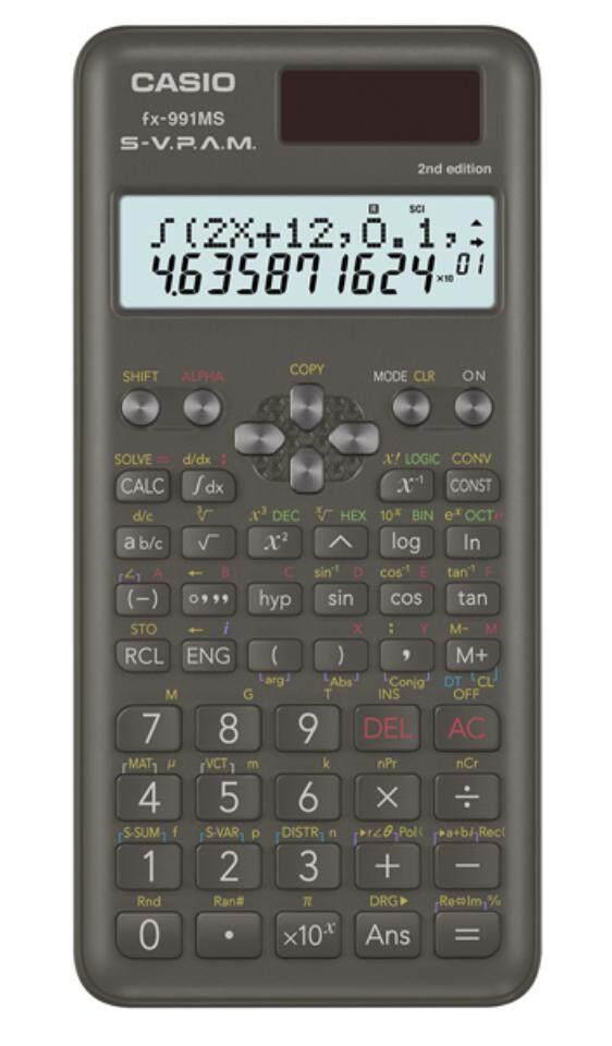 เครื่องคิดเลขวิทยาศาสตร์ Casio Fx-991ms 2nd Edition ของแท้ ประกันศูนย์ 2 ปี.