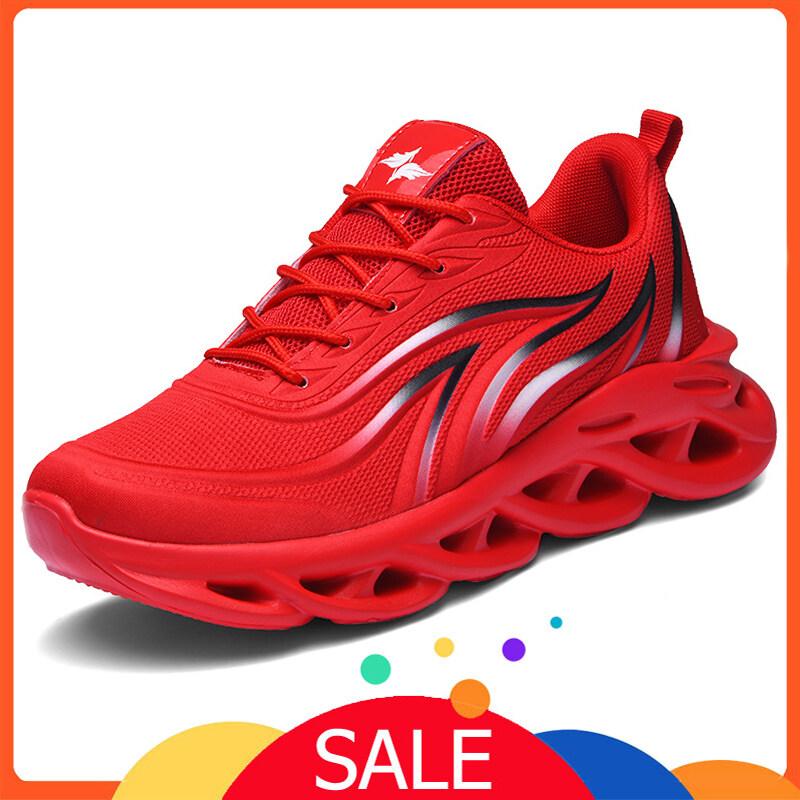 (San Zu) Giày thể thao nam nổ tung thời trang xoắn rỗng thoáng khí mềm mại thoải mái cỡ lớn ngoài trời giày thể thao giản dị chạy giày nam 39-46