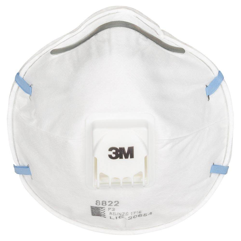 3เอ็ม หน้ากากสำหรับงานบัดกรี หลอมโลหะ พร้อมวาล์วระบายอากาศ รุ่น 8822 P2 (10 ชิ้น/แพ็ค)