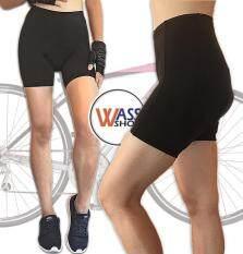 กางเกงปั่นจักรยาน ผู้หญิง ขาสั้น 2 ส่วน เป้าเจล3D Wonder สตรี สีดำ  กางเกงจักรยานผู้หญิง