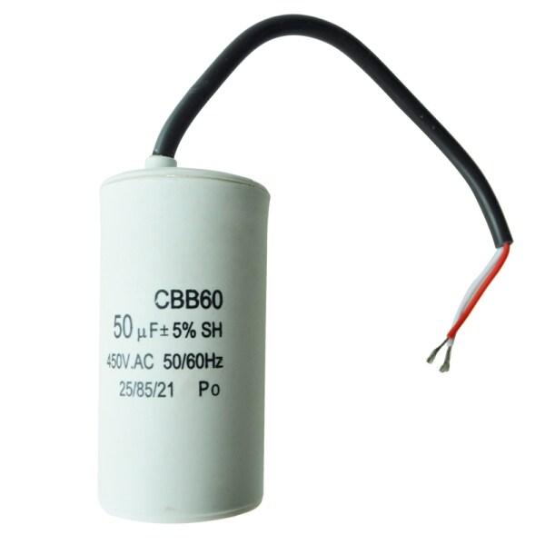 Bảng giá 50uF 450VAC CBB60 Motor Start Running Capacitor White for Washing Machine Điện máy Pico
