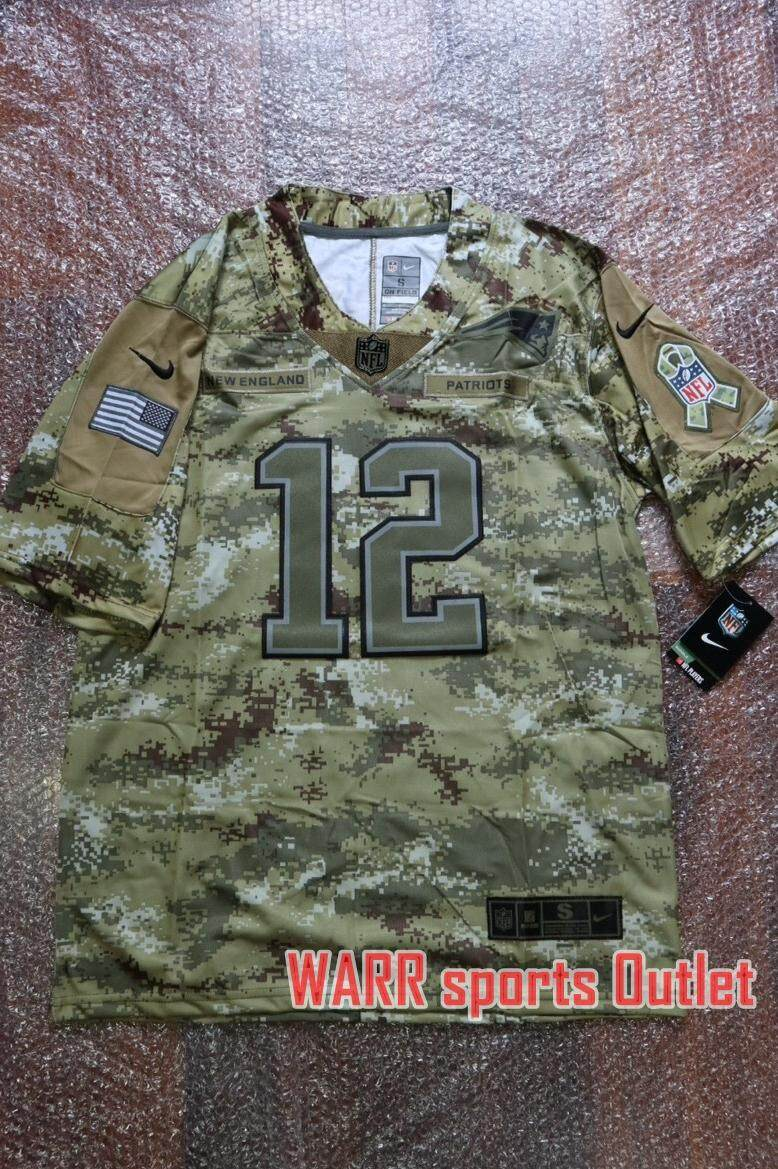 buy popular 4b542 13662 เสื้ออเมริกันฟุตบอลNFL Tom Brady Camo Jersey ทีม New England ...